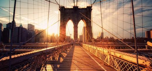 New-York-Brooklyn-Bridge-Sunset