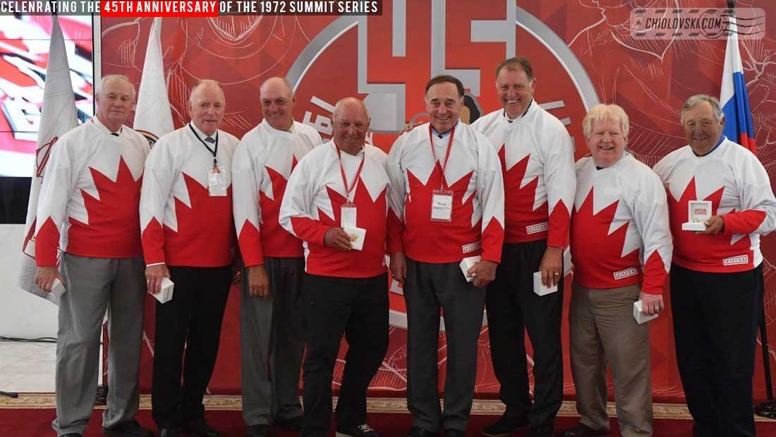Team Canada 1972 in 2017